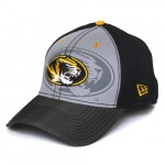 Mizzou Oval Tiger Head Black & Grey Adjustable Hat