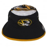 Mizzou Oval Tiger Head Black & Gold Bucket Hat