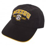 Mizzou SEC Since 2012 Black & Gold Adjustable Hat