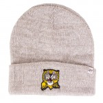 Mizzou Retro Tiger Grey Ribbed Knit Cuffed Beanie
