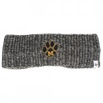 Mizzou Paw Print Black & White Knit Headband