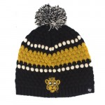 Mizzou Retro Tiger Black & Gold Beanie with Pom