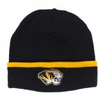 Mizzou Under Armour Tiger Head Black & Gold Cuffed Beanie