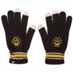 Mizzou Juniors' Paw Print Black Knit Gloves