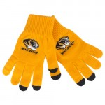 Mizzou Tiger Head Gold iText Gloves
