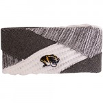 Mizzou Oval Tiger Head Grey & White Knit Headband