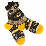 Mizzou Tiger Head Black & Gold Holiday Socks