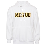 Mizzou Under Armour White Hooded Sweatshirt