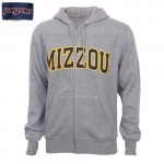 Mizzou Grey Full Zip Hooded Sweatshirt