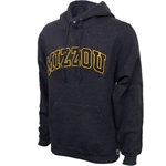 Mizzou Satin Charcoal Hooded Sweatshirt