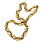 Mizzou Twisted Black & Gold Beads