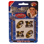 Mizzou Peel & Stick Assorted Tattoos