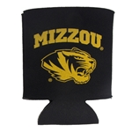 Mizzou Tiger Head Black Collapsible Can Cover
