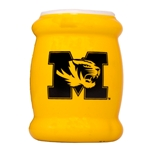 Mizzou Tiger Head Gold Metallic Reflection Koozie