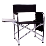 Mizzou Oval Tiger Head Black Folding Sports Chair