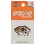 Mizzou Tiger Head Rhinestone Temporary Tattoo