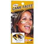 Missouri Tigers Game-Face Temporary Tattoos