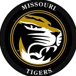 Missouri Tiger Head Black & Gold Paper Plates
