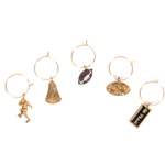 Mizzou Wine Glass Charm Set