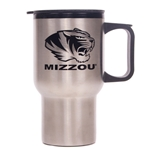 Mizzou Tiger Head Stainless Steel Travel Mug