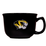 Mizzou Tiger Head Black & Gold Bowl Mug