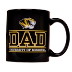 University of Missouri Dad Tiger Head Black Mug