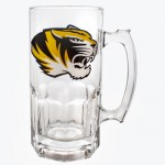 Mizzou Tiger Head Stein Glass