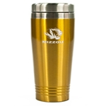 Mizzou Tigers Gold Travel Mug