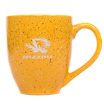 Mizzou Tiger Head Gold Speckled Ceramic Mug