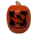 Missouri Tiger Head Resin Decorative Pumpkin