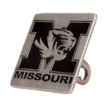Missouri Tiger Head Pewter Hitch Cover