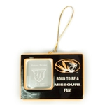 Born To Be a Missouri Fan Black/Gold Ornament