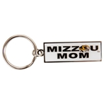 Mizzou White Mom Keychain
