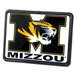 Mizzou Tiger Head White Hitch Cover