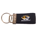 Mizzou Tiger Head Black Keychain