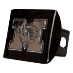 Mizzou Tiger Head Black Hitch Cover