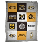 Missouri Tigers Grey Varsi-Tee Twin Size 12 Panels Blanket