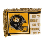 University of Missouri Tigers Black/Gold Afghan