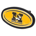 Mizzou Tiger Head Black & Gold Oval Hitch Cover