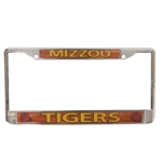 Mizzou Tigers Basketball Silver License Plate Frame