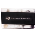 University of Missouri Tiger Head Carbon Fiber Black Business Card Holder