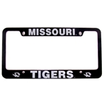 Mizzou Black License Plate Frame