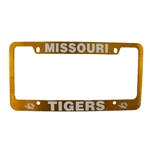 Missouri Tigers Gold License Plate Frame