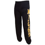Mizzou Black Closed Bottom Sweatpants
