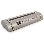 University of Missouri Silver Block M Business Card Holder