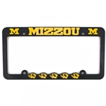 Mizzou Black and Gold Tiger Head License Plate Frame
