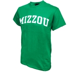 Mizzou Kelly Green Crew Neck T-Shirt