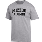 Mizzou Alumni Grey Crew Neck T-Shirt