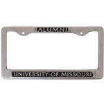 Missouri Tigers Pewter Alumni License Plate Frame
