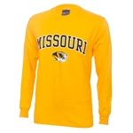 Missouri Tiger Head Gold Crew Neck Shirt